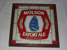 VINTAGE BEER  BAR MOLSON EXPORT ALE BREWERS SINCE  1786 SIGN