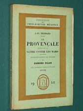 La Provençale et la satire contre les maris J.-Fr. REGNARD notes de E. PILON
