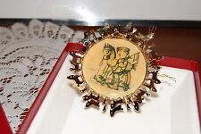 "1986 The Hummel Gold Christmas Ornament Collection ""Prayer Before Battle"""