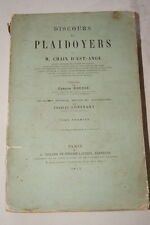 DROIT-PLAIDOYERS DISCOURS CHAIX D'EST ANGE T1 1877