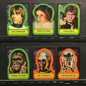 1977 Topps Star Wars Series 1 Complete set of 11 Stickers (#'s 1-11) Sku 714A