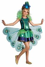Child PEACOCK ANIMAL MAJESTIC HALLOWEEN FEATHERS KIDS COSPLAY COSTUME 887098