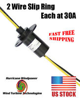 HEAVY 2 PHASE WIND TURBINE GENERATOR SLIP RING 30 AMP PER CONDUCTOR / WIRE