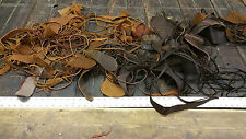 8Lb lot of Scrap Cow Hide pieces (Black and Brown Color)