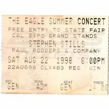 STEPHEN STILLS & BAD COMPANY Concert Ticket Stub SACRAMENTO 8/22/98 PAUL RODGERS