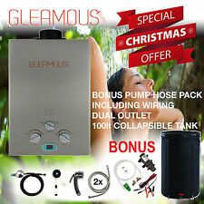 Deluxe Instant LPG Portable Gas Hot Water Camp Shower Heater 4WD Caravan Horse