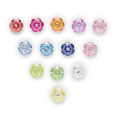 50pcs Acrylic Buttons Flower Sewing Scrapbooking Gift Home Decor 15mm