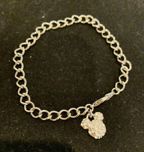 "Disney Mickey Mouse Charm  Bracelet 8"" rhinestone Mickey"