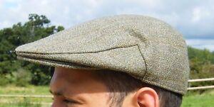 Derby Tweed Flat Cap New Made In England Light Green XS S M L XL XXL XXXL