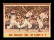 1962 Topps #318 Switch Hitter Connects Mickey Mantle LOW GRADE *OBGcards*