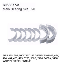 3056877-3 Case Tractor Parts Main Bearing Set .020 IH 385, 395, 500C D155 3 CYLI
