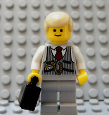 LEGO Lawyer CPA Businessman Manager Boss Realtor Broker CEO Banker w/ Blond Hair