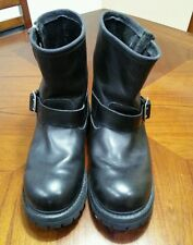 Skechers Black Leather Ankle Biker Boots mens Size 11