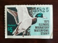 1975 Illinois State Migratory Waterfowl Duck Stamp #1 $5 Mallard Used