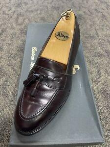 Alden 693 Men's Burgundy Low-Vamp Leather Tassel Loafer -8 C