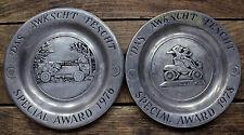 Macungie Das Awkscht Fescht Award Plates Car Show Decor Pewter Vintage
