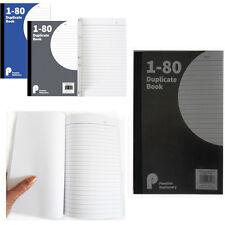 80pg Duplica nota LIBRO NUMERATO carbonio foglio NEGOZIO UFFICIO nota dettagli ordine Pad