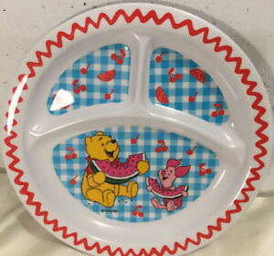 Winnie The Pooh And Piglet Plastic Sectional Kids Plate, Disney, The First Years