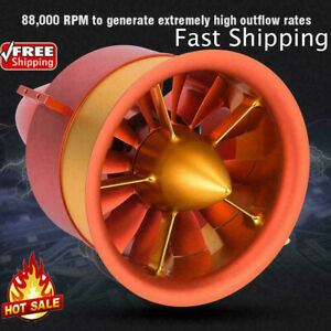 JP 90mm 12S 12 Blades EDF Ducted Fan with 840KV 4260 Motor for RC Airplane❤TT