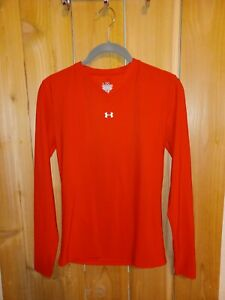 Under Armour Womens/Juniors Red long sleeve  Top Size Large new