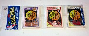 1989-90 Fleer Basketball Rack Pack Michael Jordan SHOWING Front Larry Bird Back