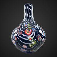 "Vintage Murano Italian Venetian Millefiori Vase Art Glass 10""T 6""W Art Glass"