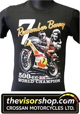 "Recordando ""Barry Sheene campeón mundial No.7"" 500cc T-Shirt-Negro-X - Grande"