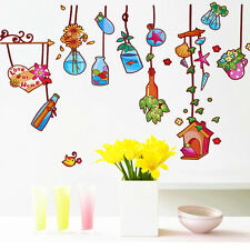 57147   Wall Stickers Lovely Nature Drift Bottles Colorful