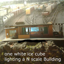 10 WHITE ICE CUBE LEDS FOR LIGHTING N SCALE BUILDINGS