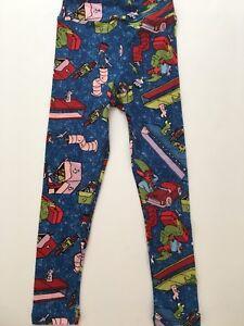 Elf LuLaRoe Kids S/m Leghings Christmas Santas Workshop Pants