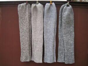 Homemade winter Ribbed Boot  Leg Warmers OVER KNEE HIGH 100% sheep wool  Russian