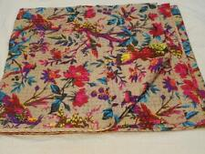 Indian Quilt Handmade Vintage Kantha Bedspread Throw Cotton Blanket Gudari Twin