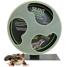 "Silent Runner Glow Wheel 12"" - Pet Exercise Wheel - Hamster, Sugar Glider, Rat"