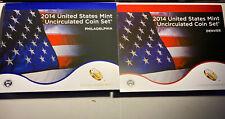 2014 United States Unc Coin Set Denver & Philadelphia