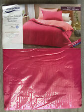 King Size Duvet Cover Set Meradiso Pink Microfibre Sateen Reversible