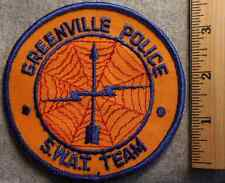 GREENVILLE POLICE SWAT TEAM PATCH (HIGHWAY PATROL, SHERIFF, EMS)