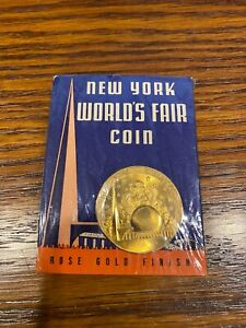 1939 New York World's Fair Coin - Rose Gold - Communications Building - In Pack