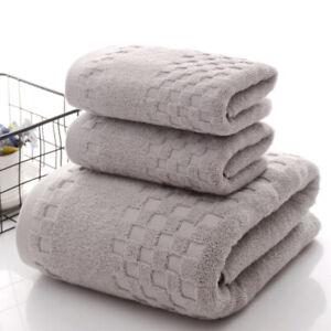 3-piece bath towel set, high-end checkered luxury suit, 1 bath towel, 2 towels