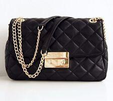 Michael Kors Tasche/Bag Sloan QUILITED LG Chain Shldr Leder Schwarz NEU!UVP:375€