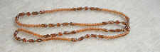 Lovely vintage necklace amber tone beads, long pretty necklace