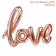 "42"" Rose Gold Love Heart Foil Balloon Engagement Wedding Birthday Party Decors"