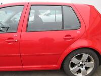 Tür hinten links VW Golf 4 4-türig FLASHROT LP3G rot