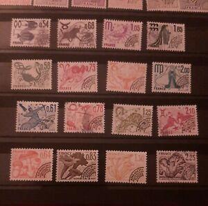 Timbre France Preoblitérés Collection  Année 1977 A 1979 sans gomme Oblitéré
