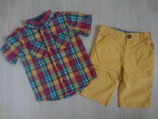 M&S Boys Summer Shirt and shorts Outfit (2 piece Set) 2-3 years