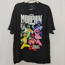 Its Morphin Time Power Rangers Mens T Shirt 2XL MMPR Vintage Design All Rangers