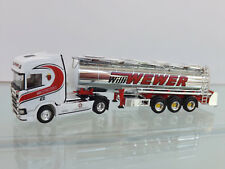 "Herpa 308427 - H0 1:87 - SCANIA CR HD chromtank-sz "" Willi Wewer "" -"