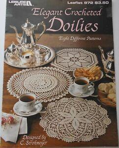 Elegant Crocheted 8 Doilies Pattern Leaflet #972 by C. Strohmeyer Leisure Arts