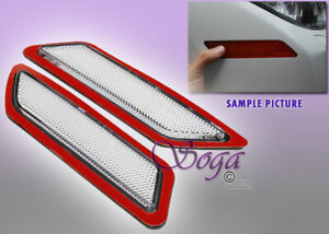 FOR 2012-2015 BMW F30 F31 3-SERIES CLEAR SIDE MARKER LAMPS BUMPER REFLECTOR PAIR