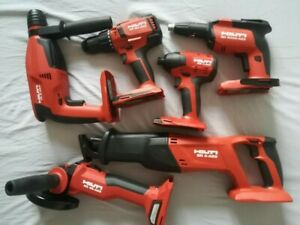 Brand New Hilti SD 5000-A22, SID 4-A22, AG 4S-A22, SR 4-A22, TE 2-A22, SF 6H-A22