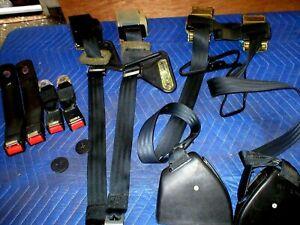 1982-92 Camaro Firebird Black Set Seat Belts 83 84 85 86 87 88 89 90 91 92 GM